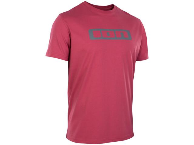 ION Logo Kurzarm-Shirt Herren firing red
